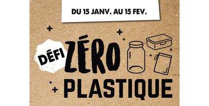 Participez au Défi Zéro Plastique !
