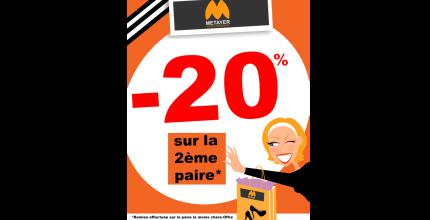 -20% SUR LA 2ème PAIRE