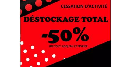 -50% sur tout le magasin !