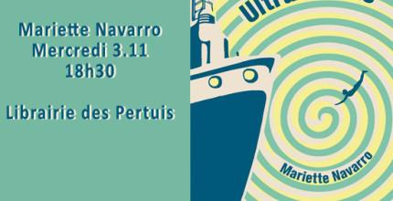 Rencontre littéraire avec Mariette Navarro